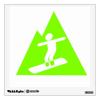 Neon Green Wall Decals & Wall Stickers #2: chartreuse neon green snowboarding wall decal re2bf7e4ea58c43ab80e1c dde4d 8veny 8byvr 324