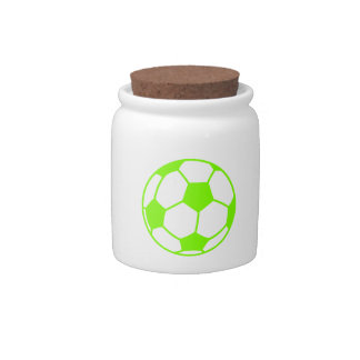 Chartreuse, Neon Green Soccer Ball Candy Dish