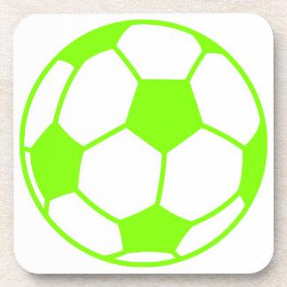 Chartreuse, Neon Green Soccer Ball Coaster
