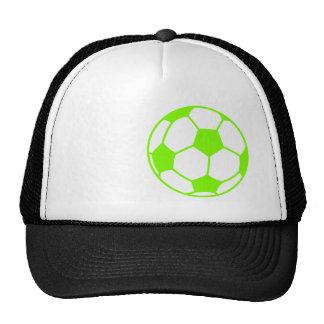 Chartreuse, Neon Green Soccer Ball Trucker Hat