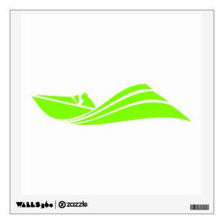 Chartreuse, Neon Green Speed Boat Wall Sticker
