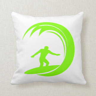 Chartreuse, Neon Green Surfing Pillows