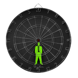 Chartreuse, Neon Green Swag Dartboard With Darts