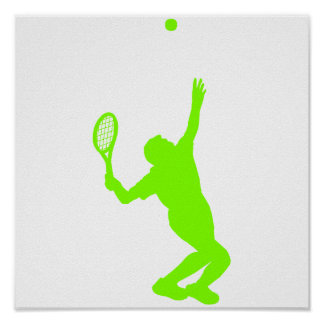 Chartreuse, Neon Green Tennis Poster