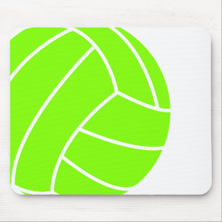 Chartreuse, Neon Green Volleyball Mouse Pad