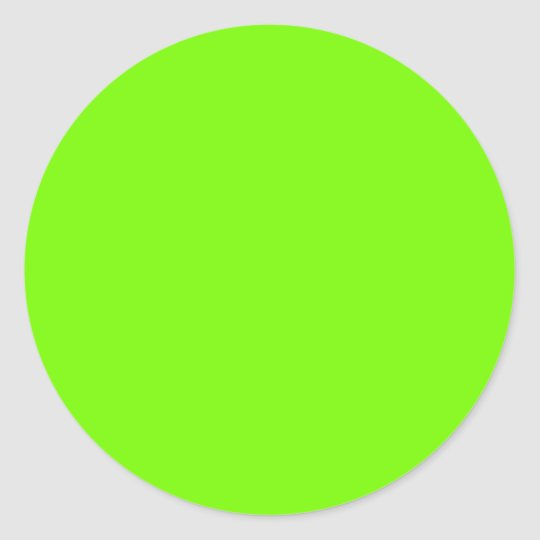 Chartreuse Neon Yellow Green Color Only Tools Classic Round Sticker