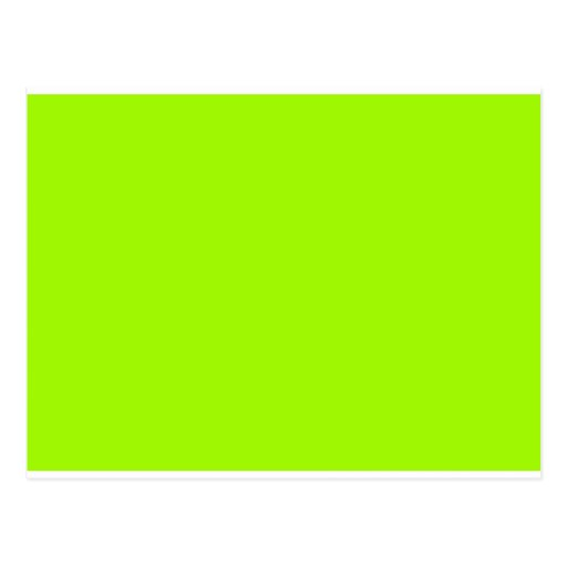 Chartreuse neon yellow green color only tools postcard for What color goes with chartreuse