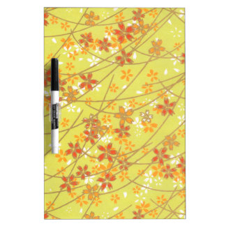 Chartreuse Origami Pattern Dry-Erase Board