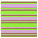 [ Thumbnail: Chartreuse, Plum, and Brown Stripes Pattern Fabric ]