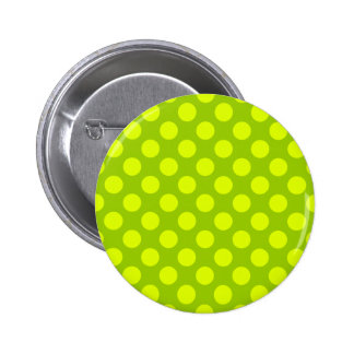 Chartreuse Polka Dots Buttons