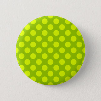 Chartreuse Polka Dots Pinback Button