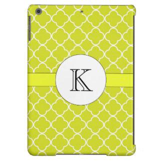 Chartreuse Quatrefoil Pattern iPad Air Cover