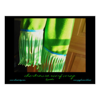 Chartreuse Scarf Wrap by Gretchen Poster
