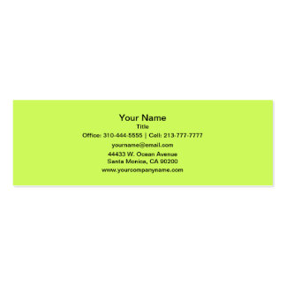 Chartreuse Solid Color Business Card