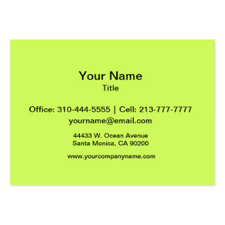 Chartreuse Solid Color Business Cards