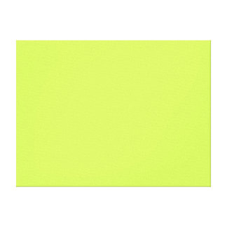 Chartreuse Solid Color Stretched Canvas Print