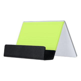 Chartreuse Solid Color Desk Business Card Holder