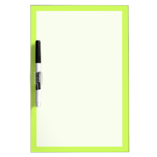 Chartreuse Solid Color Dry-Erase Board