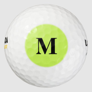 Chartreuse Solid Color Golf Balls