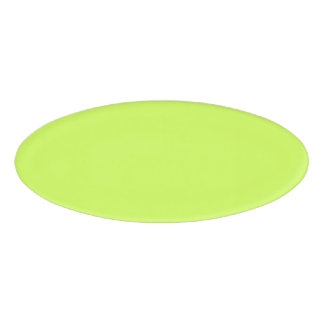 Chartreuse Solid Color Name Tag