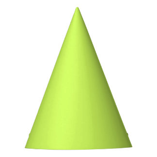 Chartreuse Solid Color Party Hat