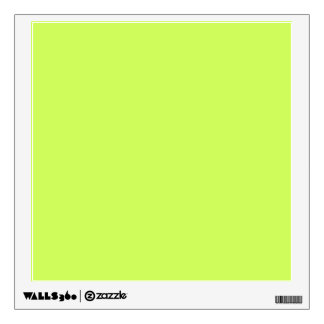 Chartreuse Solid Color Wall Sticker