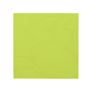 Chartreuse Solid Color Wood Prints