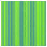 [ Thumbnail: Chartreuse & Teal Lines Fabric ]