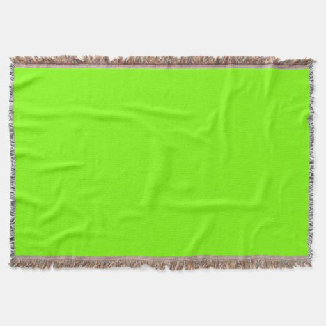 Chartreuse Throw Blanket