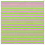 [ Thumbnail: Chartreuse & Violet Colored Lined Pattern Fabric ]