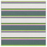 [ Thumbnail: Chartreuse, Violet, Dark Slate Gray, White & Black Fabric ]