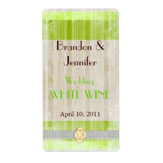 Chartreuse Wedding Mini Wine Labels