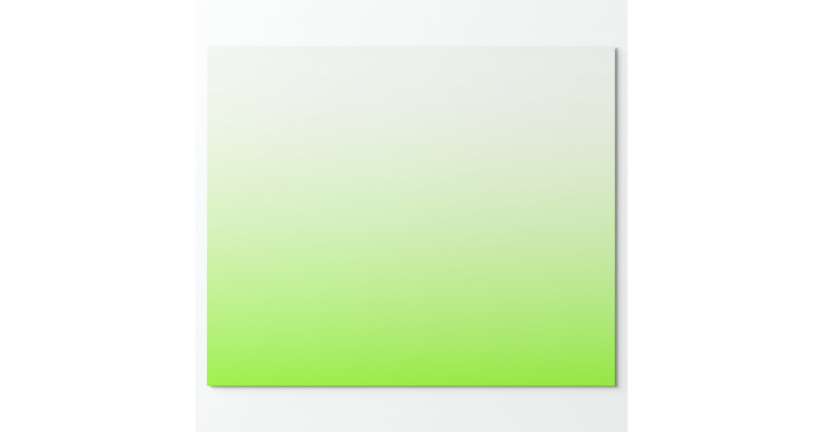 Chartreuse white ombre wrapping paper zazzle for Espejo 8 aumentos