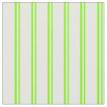 [ Thumbnail: Chartreuse & White Striped Pattern Fabric ]