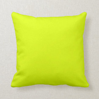 Chartreuse Yellow Color Bright Neon Yellow Color Throw Pillows