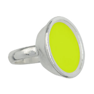 Chartreuse Yellow Color Bright Neon Yellow Color Ring