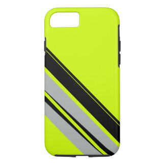 Chartreuse Yellow Lime Black Sporty CricketDiane iPhone 7 Case