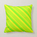 [ Thumbnail: Chartreuse & Yellow Lines Throw Pillow ]