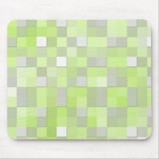 Chartreuse Yellow Mosaic Pattern Mouse Pad