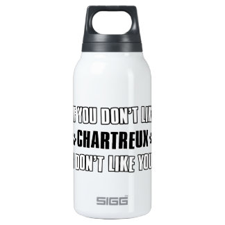 Chartreux cat design insulated water bottle