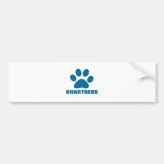 CHARTREUX CAT DESIGNS BUMPER STICKER