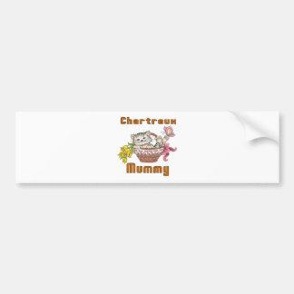 Chartreux Cat Mom Bumper Sticker