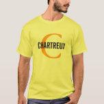 Chartreux Cat Monogram Design T-Shirt