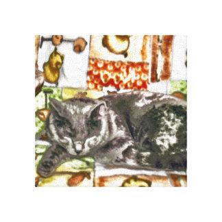 Chartreux Cat Snooze Canvas Print