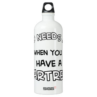 Chartreux design aluminum water bottle