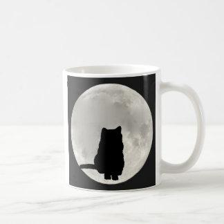 Chartreux Full Moon Classic White Coffee Mug