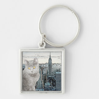 Chartreux in New York City Keychain