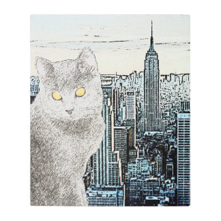 Chartreux in New York City Metal Print