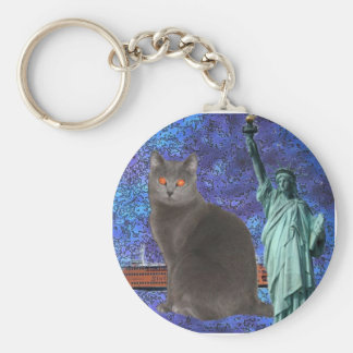 Chartreux NYC Basic Round Button Keychain