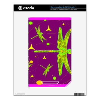 Chartruese Dragonfly Purple Fantasy by Sharles NOOK Color Decal